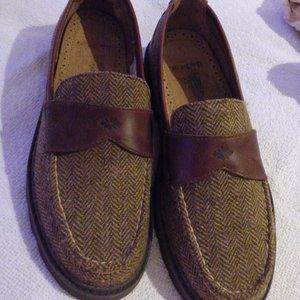 Barbour Richmond Ladies Brown Tweed Loafers US 7.5